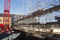 Timber Frame Commercial Scaffolding